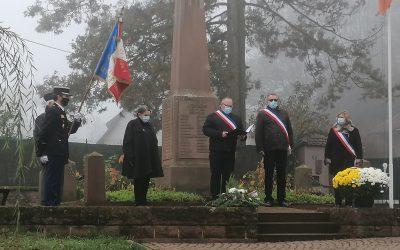 Cérémonie de commémoration du 102ème anniversaire de l'Armistice de 1918